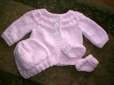 Pink Little Lamb Set
