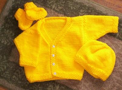 Yellow Sweater Set