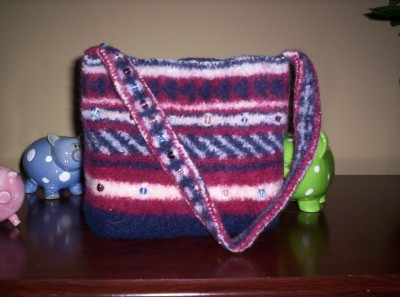 Blue Striped Purse