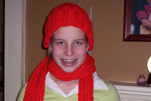 Bulky Rib Hat and Scarf
