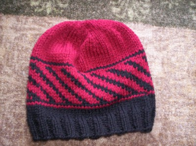 Diagonal Stripe Hat