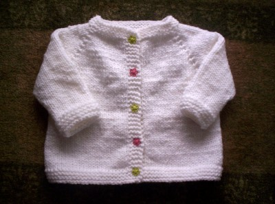 White Baby Sweater